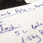 Writing the new Black Ale recipe