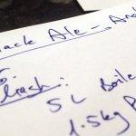 Writing the new Black Ale recipe