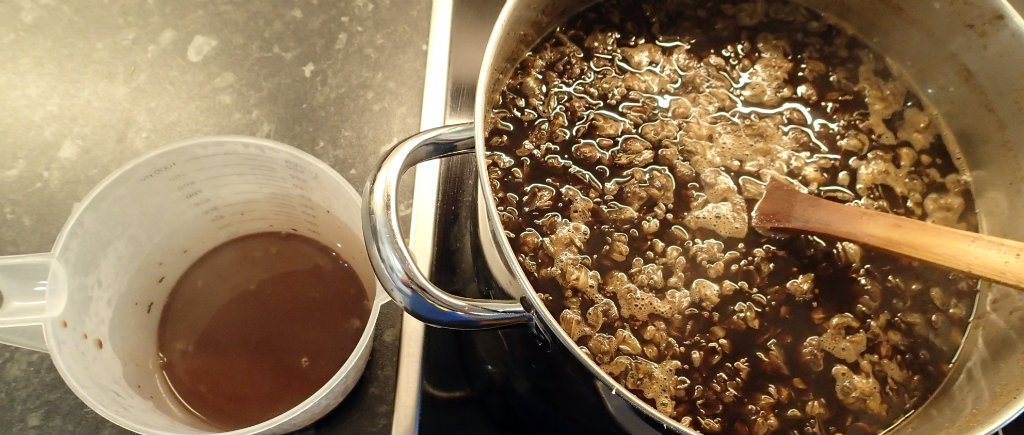 Cocoa Slurry ready to go into the wort