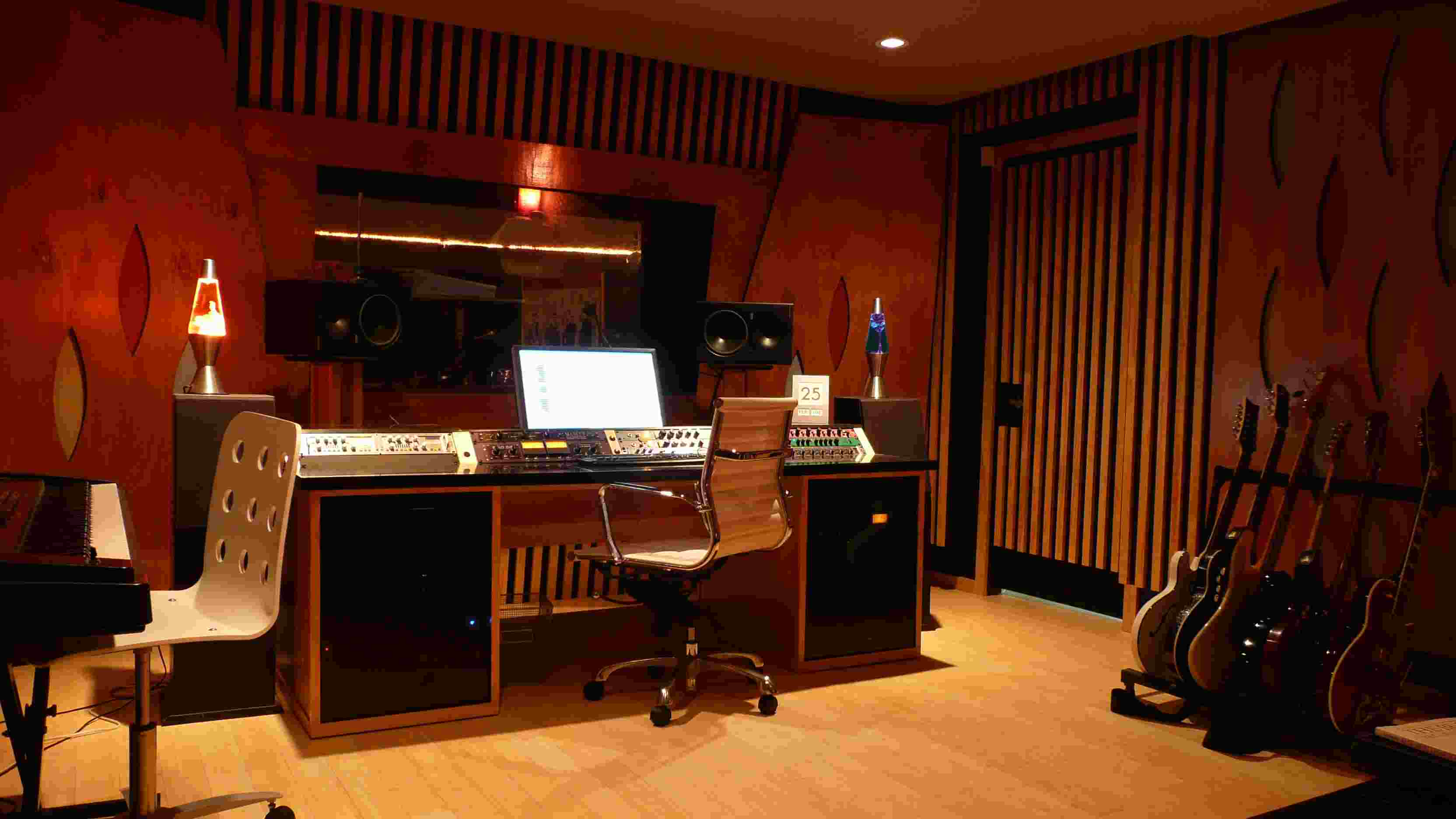 Lighting in a musical studio