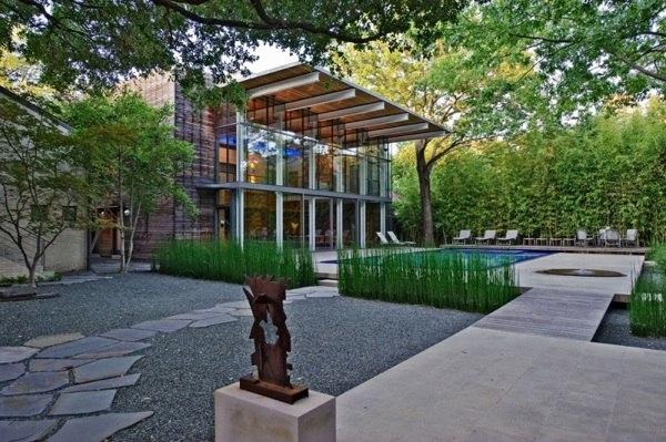 modern garden design outdoor