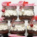 Homemade christmas gift ideas chocolate chips marshmallow candy canes