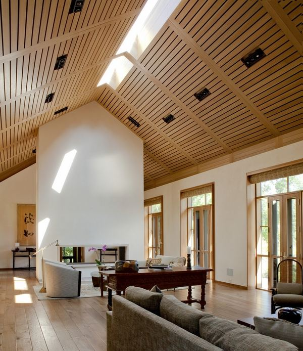 tile floor designs for living rooms brown room 65 unique cathedral and vaulted ceiling in ...