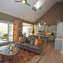 Tile Floor Designs For Living Rooms Room Colors With White Trim 65 Unique Cathedral And Vaulted Ceiling In ...