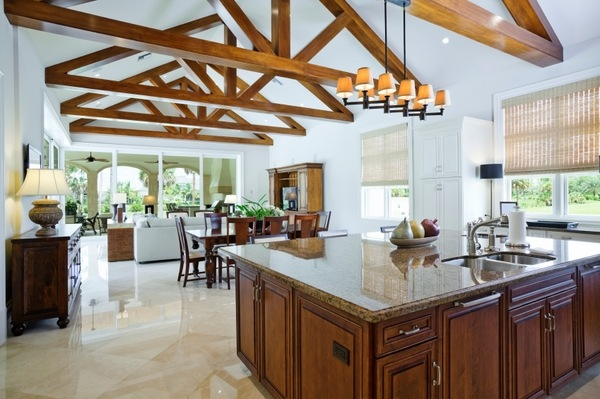 open kitchen with ceiling beams 65 unique cathedral and vaulted ceiling designs in living
