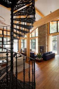 Space saving spiral staircase ideas for indoor and outdoor