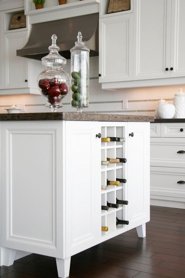 wine rack island kitchen remodeling naples fl modern racks –an impressive decorative element in the ...