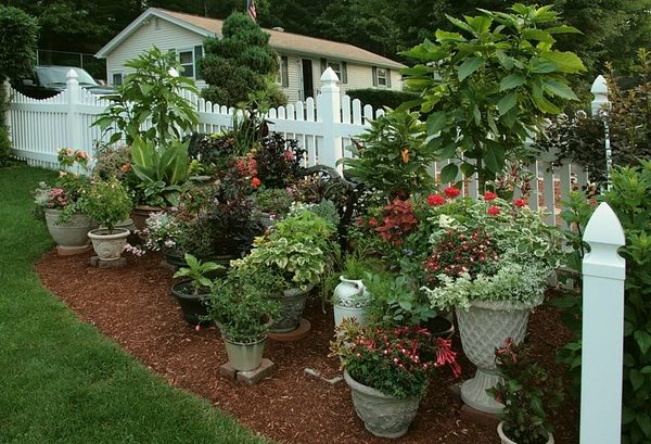 planter gardening ideas - Patio Flower Ideas