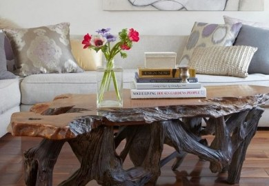 Modern Rustic Wood Dining Table