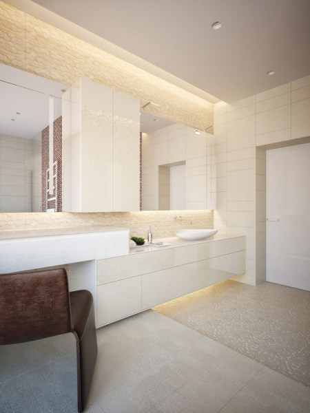 modern led bathroom lighting LED light fixtures - tips and ideas for modern bathroom