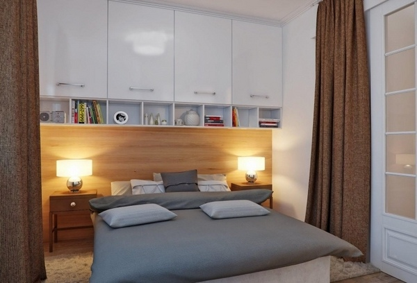 Small Bedrooms Ideas Storage White Upper Cabinets Wood Panels