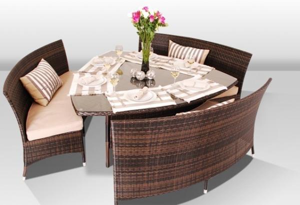 comedor triángulo espacio de tablas ideas de ahorro de muebles de comedor bancos