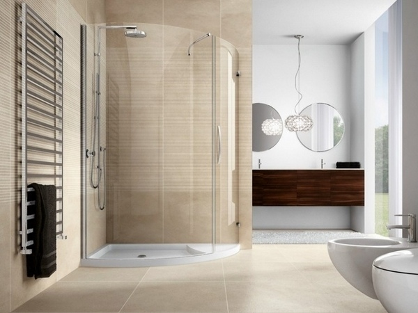 paseo moderna en ideas de la ducha de esquina ducha de cristal elegante diseño del baño