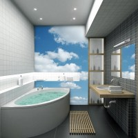 50 Small bathroom decoration ideas  photo wallpaper as