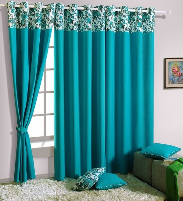 Turquoise Curtains Great Ideas For Modern Decoration In Every