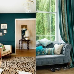 Wall Color Combination For Living Room Mid Century Ideas Teal Design – Trendy Interiors In A Bold ...
