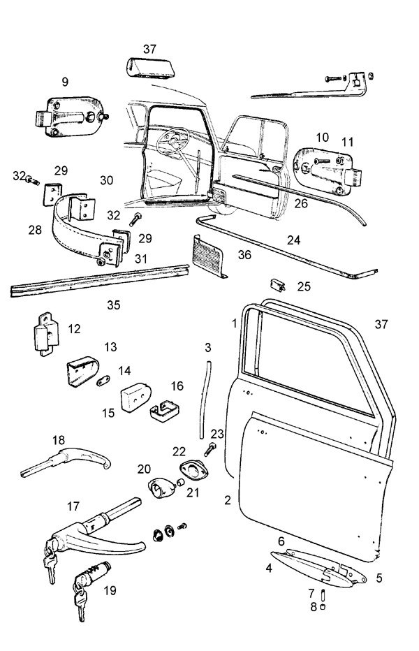 [2009 Mini Clubman Driver Door Latch Repair Diagram