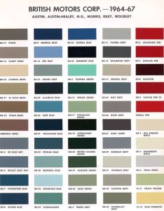 Ici color chart austin version of bmc paint codes also ganda fullring rh