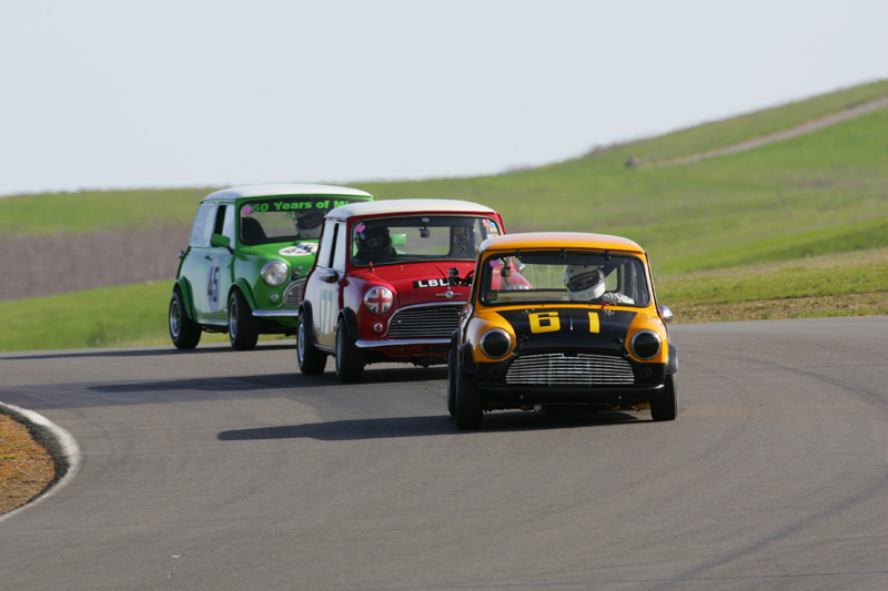 Mini Cooper at the races