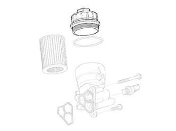 Mini Cooper Oil Filter Canister Cover Oem R50 R52