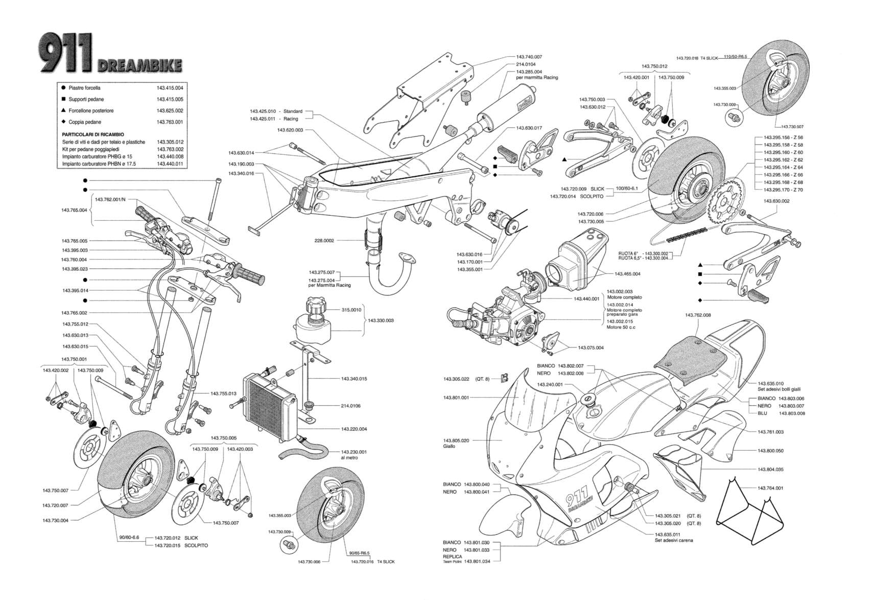Polini 911 Exploded Diagram