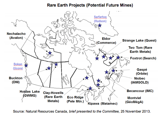 Canada identifies top rare earth projects MININGcom