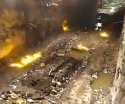 Video Underground Blasting Generates Cool Light Show