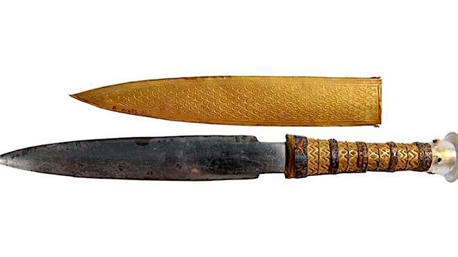 Tutankhamun had a dagger made of iron from meteorite