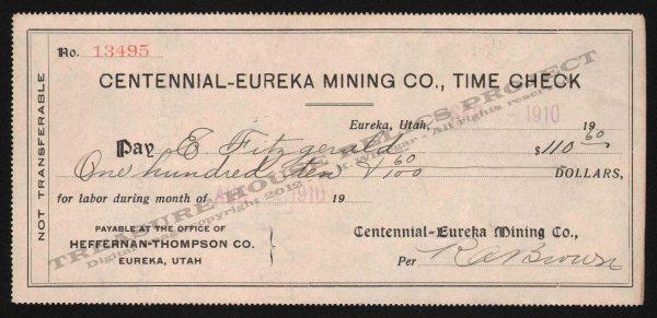 Eureka Utah Mine Centennial