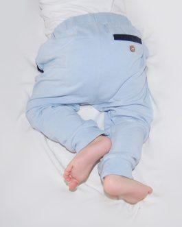 Bukse med lommer – lyseblå