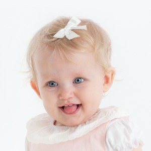 Hvit babyspenne