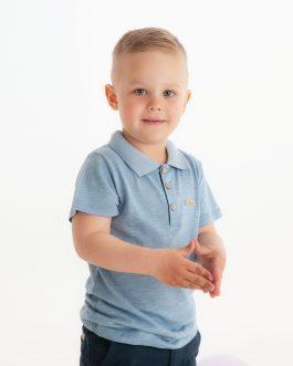 Poloskjorte – Dus blå