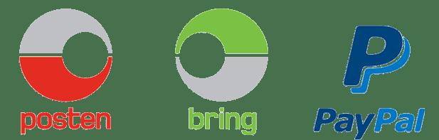 Logo til Posten Bring og PayPal