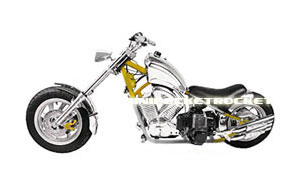 Mini Choppers Yellow / Silver