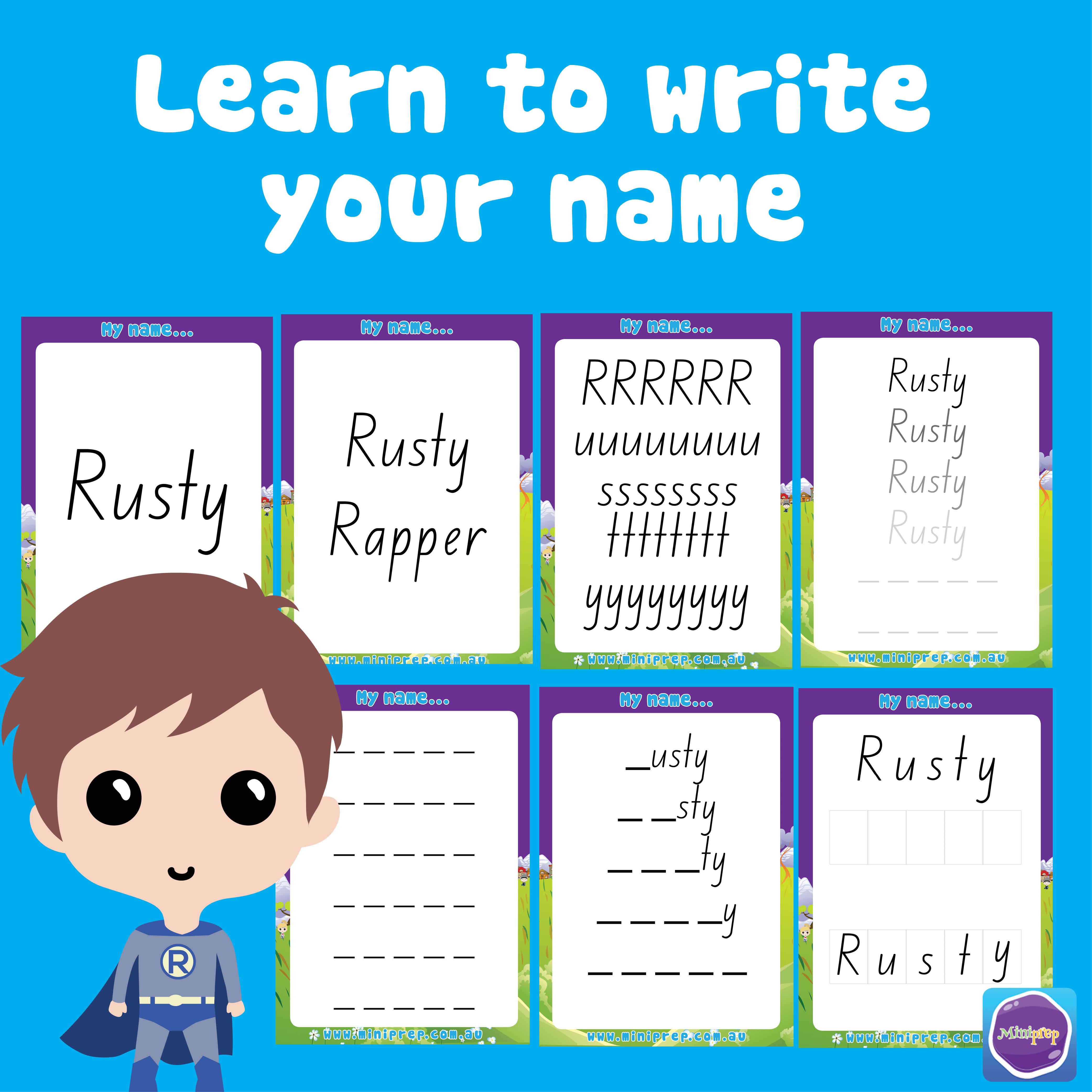 Learn To Write My Name Template