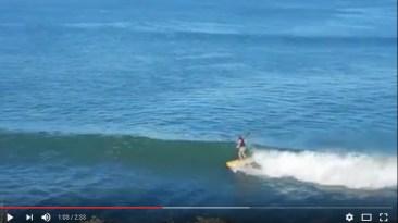 Surfing a Mini Fish (mini simmons)