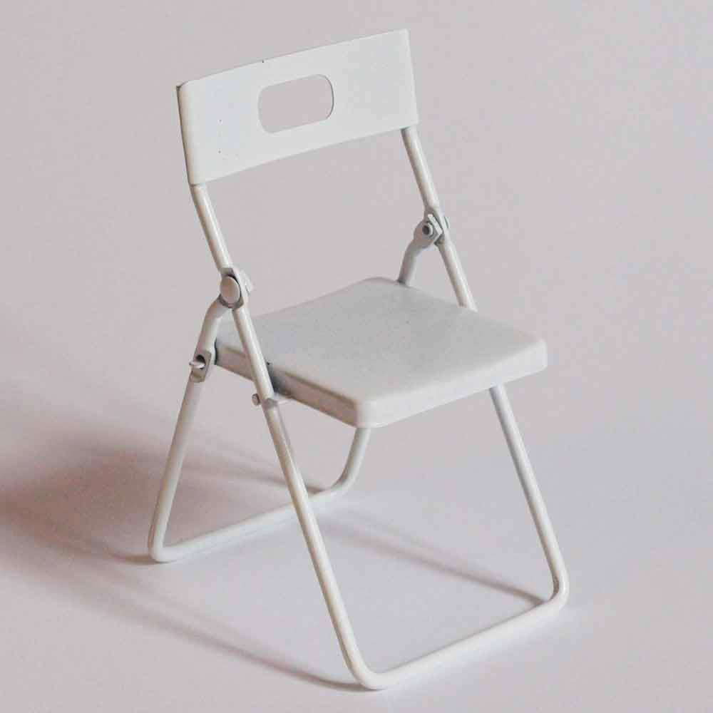 compra miniaturas modernas Silla Blanca para casas de muecas