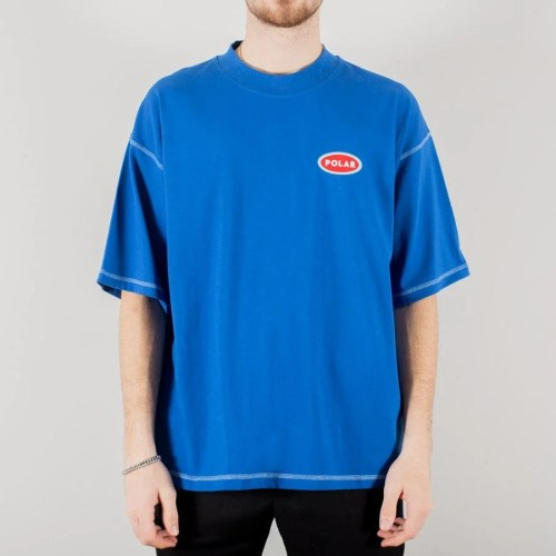 POLAR STATION LOGO SURF TEE ROYAL BLUE