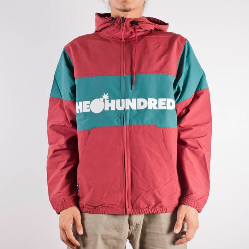 THE HUNDREDS PORT JACKET BURGUNDY