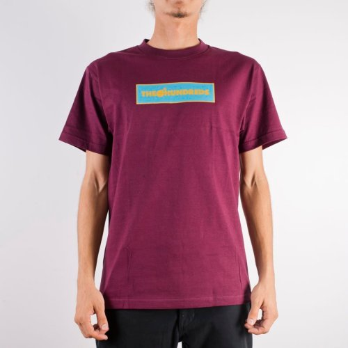 THE HUNDREDS CORNERS TEE BURGUNDY