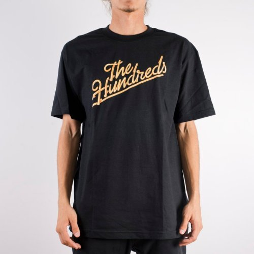 THE HUNDREDS MODESTO SLANT TEE BLACK