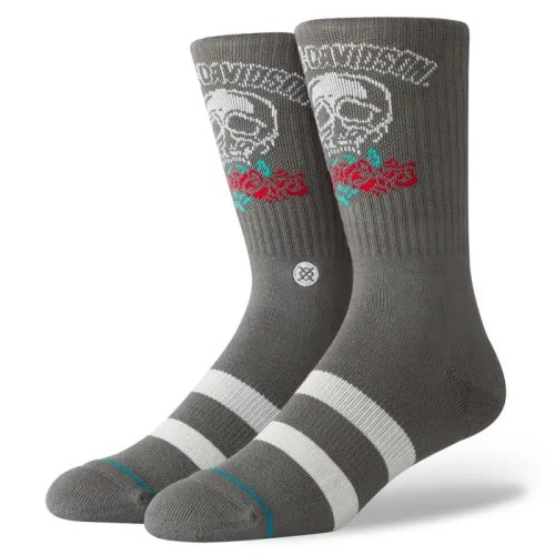 STANCE HARLEY ROSES ARE RED SOCKS (GREY)