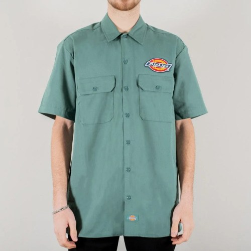 DICKIES CLINTONDALE SHIRT LINCOLN GREEN