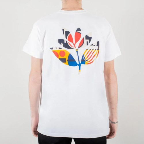 MAGENTA SHAPES PLANT TEE WHITE 2