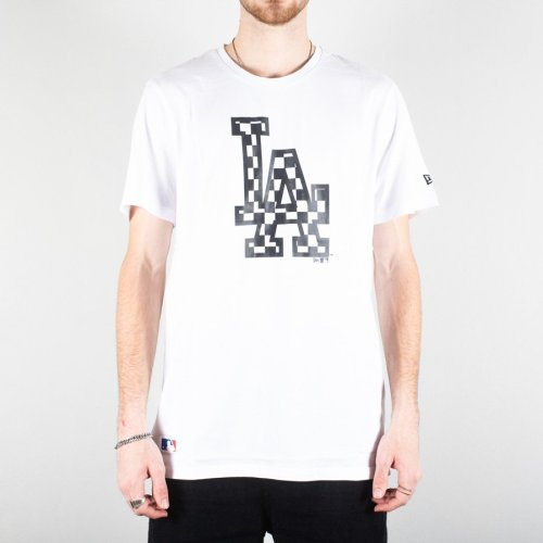 NEW ERA LOS ANGELES DODGERS LOGO INFILL TEE WHITE