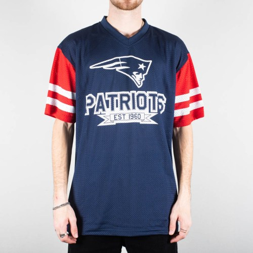 NEW ERA NEW ENGLAND PATRIOTS CONTRAST SLEEVE OVERSIZED TEE BLUE
