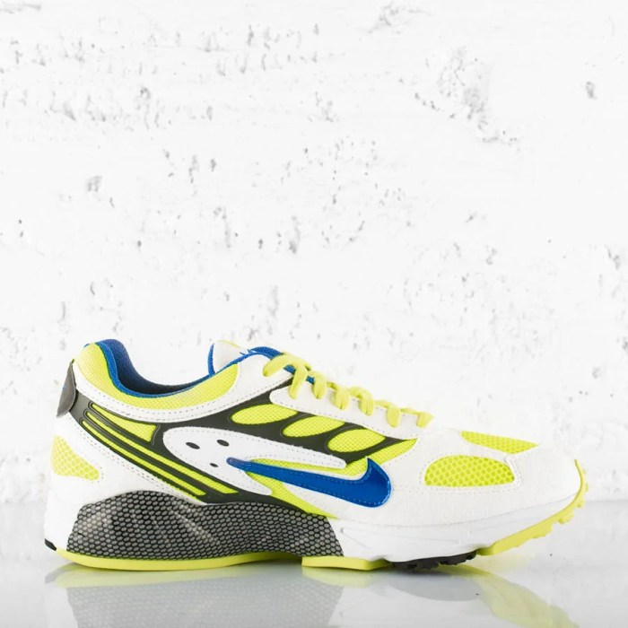 NIKE AIR GHOST RACER WHITE HYPER BLUE NEON YELLOW (5)