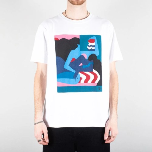 PARRA THE COMFORTING ROOM TEE WHITE