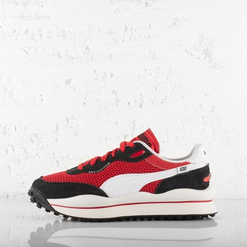 PUMA STYLE RIDER STREAM ON TRAINERS HIGH RISK RED