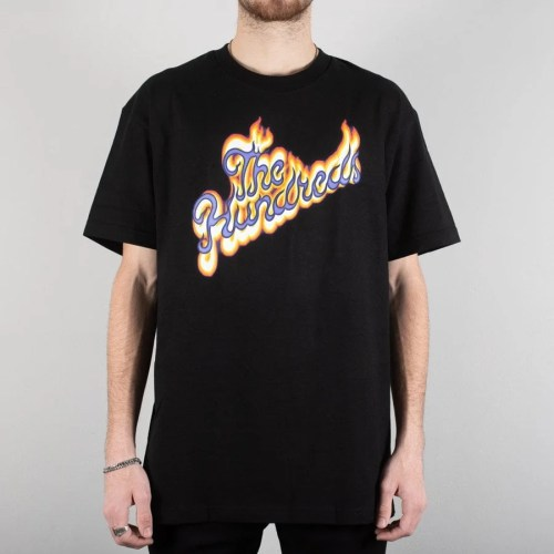 THE HUNDREDS FLAME SLANT TEE BLACK